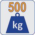 500kg.